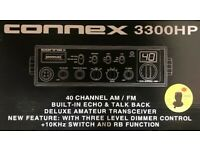 CONNEX CX-3300HP RADIO,CHROME FACEPLATE,POWERFUL HGH OUTPUT LEVELS LOUD AUDIO