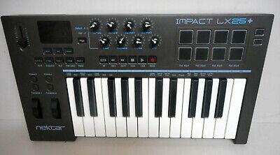 Nektar Impact LX25+ 25-Key MIDI Controller Keyboard Veloctiy Sensitive 8 Pad USB