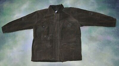 Buffalo Louie Buffalo Men's Suede Leather Jacket Size M_PICTURE SHOW MEASUREMENT Suede Leather Buffalo