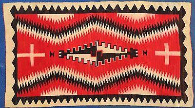 """VINTAGE 1920's NATIVE AMERICAN INDIAN NAVAJO GANADO RUG EYE DAZZLER BIG 102""""x56"""""""