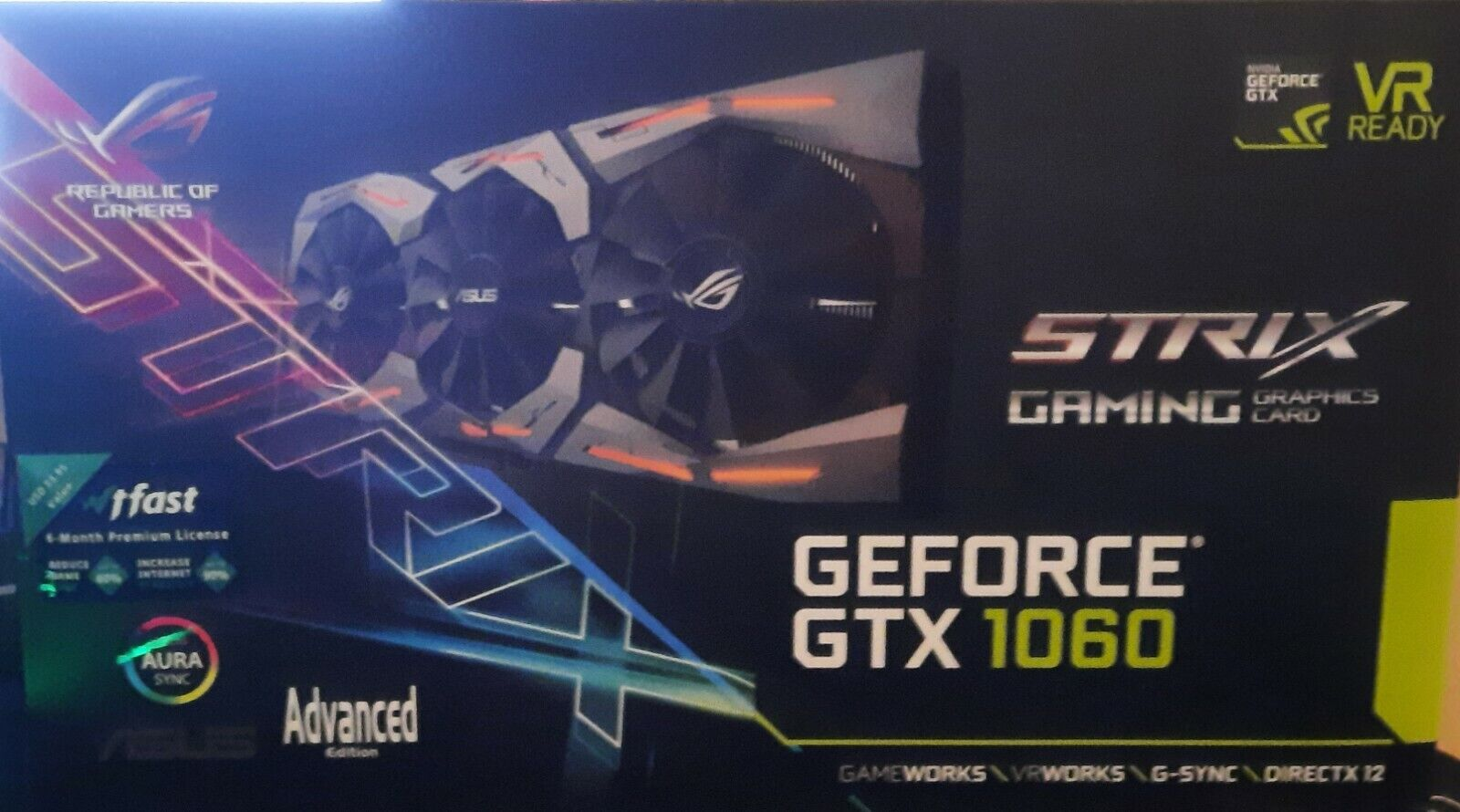 ASUS Rog STRIX GeForce GTX 1060 OC 6GB GDDR5 Grafikkarte