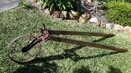 Rustic Old Hoe with Wooden Handles ~ Garden Decor ~ Mount Kuring-gai Hornsby Area Preview