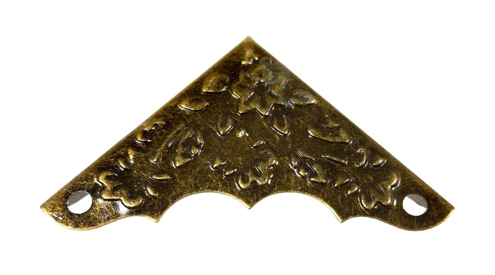 Decorative Box Corner Brass Plated : Pc antique brass plated box corners with decorative