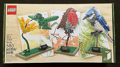 LEGO Ideas Birds 21301 Blue Jay Hummingbird Robin Retired Cuusoo Sealed & NEW