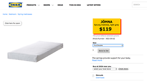 Double-Size mattress in good condition, bought from IKEA Carlton Melbourne City Preview