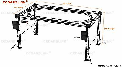 Trade Show Booth Trusses Dj Stage 22 X 12 X 10 Metal Truss Triangle Trusses
