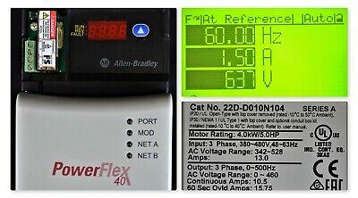 2015 Allen Bradley Powerflex 40p 22d-d010n104 Drive 5 Hp Tested Good
