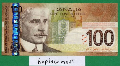 *** REPLACEMENT EJE *** 2004 2003 print Bank of Canada 100 dollar Jenkins Dodge