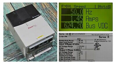 Used Allen-bradley Powerflex 700 Drive 20be027a0aynanc0 25 Hp Frm 7.001 Tested