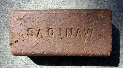 Antique Saginaw, Mich. Brick Sidewalk Building Original 1894 -1917 Collectible