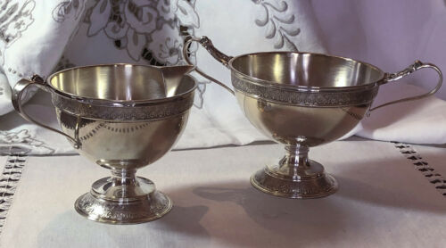 Sterling Silver Sugar and Creamer Set By John Wendt - No Monograms
