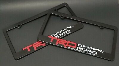 X2 TRD ABS License Plate Frame Toyota TRD Offroad Tacoma FJ Cruiser 4x4 Rally Cruiser Rear License Frame