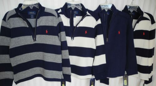 NWT Boys Ralph Lauren French-Rib Half-Zip Sweater,   Size  4/ 4T, 5