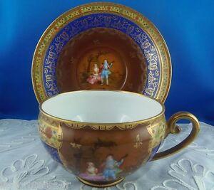 dejeuner tasse a chocolat fine porcelaine czechoslovakia n 1 ebay. Black Bedroom Furniture Sets. Home Design Ideas
