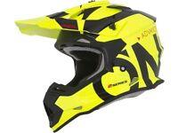 New Adult O Neal SLICK Neon Yellow Helmet S M L XL Motocross Enduro