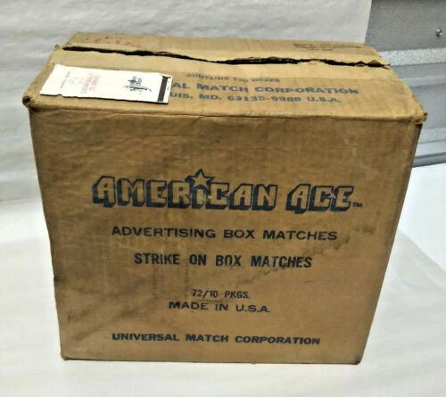 NOS Case Vintage American Ace Mason Dixon Intl Line Matches Matchboxes WHOLESALE