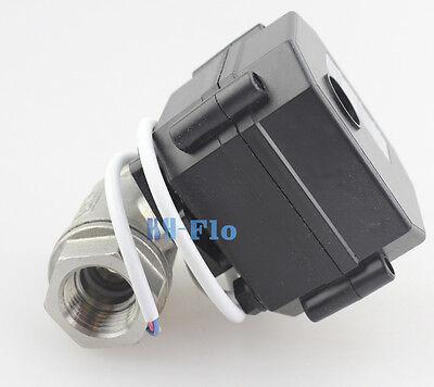 """HSH-Flo DC12V 1/2"""" BSP Motorized Ball Valve Stainless Steel EPDM CR-02"""
