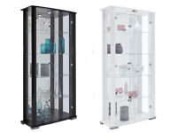 Glass Display Cabinet - White Gloss