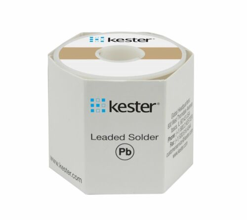"Kester 24-6337-8800, No-Clean Wire Solder, 63/37, 0.031""Dia.(0.80mm), 1 LB Spool"
