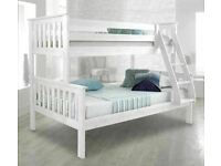💖🔴MASSIVE SAVING🔵💖Kids Bed Trio Wooden Bunk Bed In Multi Colors Optional mattress