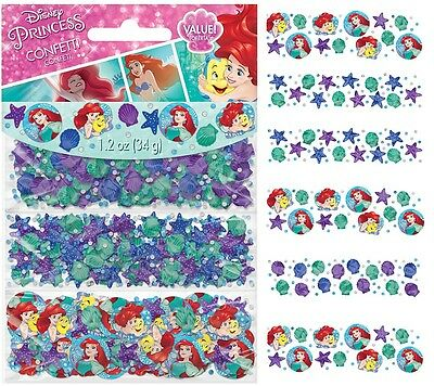 Disney Little Mermaid Ariel Confetti 1.2oz. (Each) Kids Birthday Party - Ariel Birthday Party