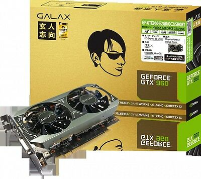 New GALAX GeForce GTX 960 Graphics Cards GF-GTX960-E2GB/OC2/SHORT from Japan