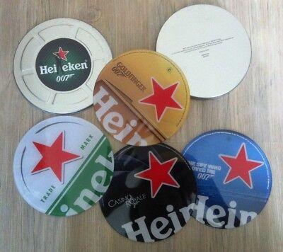 Heineken James Bond 007 Trademarks Coaster Set Of 4 Coffee Cup Pad Mug Beer Glas