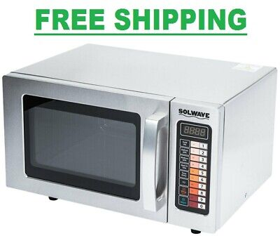 Durable Stainless Steel Commercial Microwave Oven Push Button Controls 1000W Commercial Stainless Steel Oven
