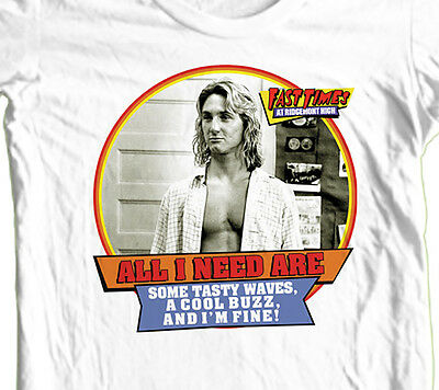 - Fast Times Ridgemont High T-shirt Jeff Spicoli retro 1980's 100% cotton tee