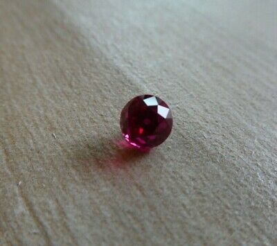 Deep Sparkling Old European Antique Cut Red Ruby Round 6mm
