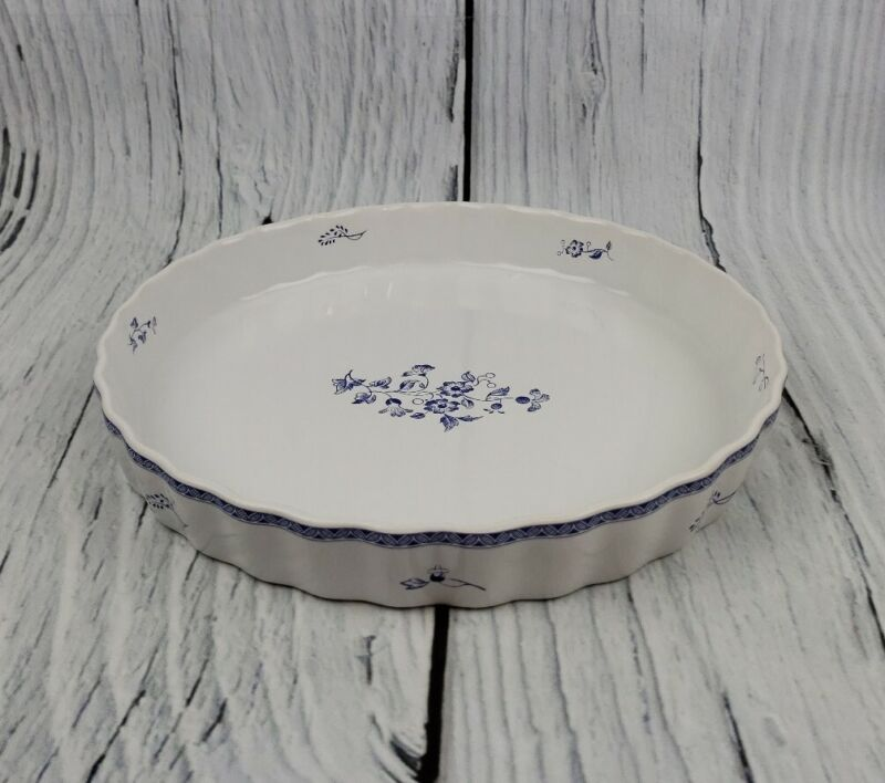 Fyrklovern Pie Plate Firkloveren Apilanlehti Classic Quiche Tart Pan Blue White