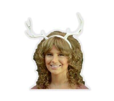 White Deer Antlers Headband Faun Creature Animal Reindeer Fairy Horns DIY](Diy Reindeer Antlers)
