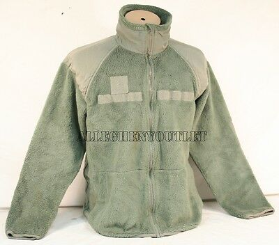 US Military Army Gen 3 ACU Foliage Green Polartec Fleece Jacket XS S M L XL - Army Green Fleece Jacket