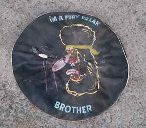 Vintage 4×4 Spare Tyre Cover Hand Painted Artwork Brookvale Manly Area Preview