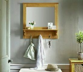 Oak hallway mirror