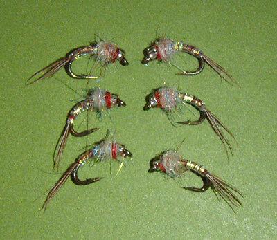 Rainbow Warrior Midge emerger Fly size 18  Hot Tailwater Pattern