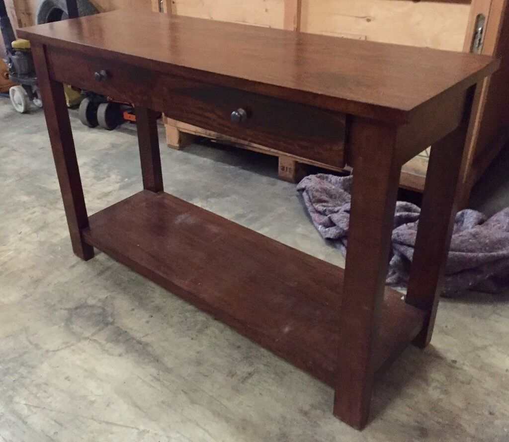 Marvelous photograph of Dark Wood Console Table with drawers in Swindon Wiltshire Gumtree with #806A4B color and 1024x890 pixels
