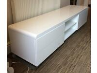 Dwell high quality TV unit in white high gloss