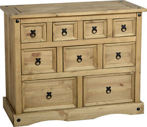 MEXICAN PINE CORONA 4 DRAWER CHEST, CHEST OF 6 DRAWERS,