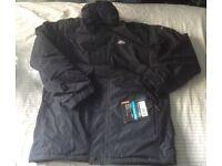 [New] Trespass padded rain jacket NEW with tags size XS black