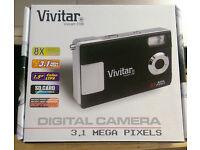 Brand New Vivitar V3188 Digital Camera - Black (3.1MP, 8X Digital Zoom) 1.5 TFT