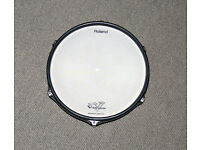 ROLAND PD-120 V Drums 12 inch mesh pad dual zone upgrade White electronic e kit
