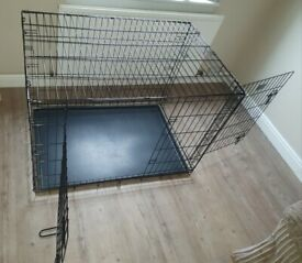42 inch dog crate (includes tray)