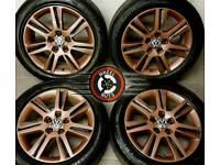 "17"" Genuine Audi alloys Caddy Golf refurb bronze/black excel cond premium tyres."