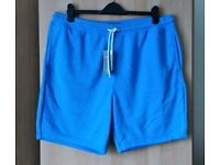 Brand New With Tags Mens Blue Jersey Shorts XL