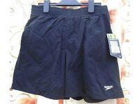 Speedo Junior Shorts. Black. Size: Childs XL (Age 12-13yrs).