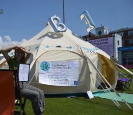 5m Lotus Belle Hybrid Deluxe tent dry hire £170 per week, £30 per day Brighton based HIGHEST QUALITY