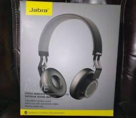 NEW Jabra Move Wireless Bluetooth On-Ear Headphones - Black (like beats)