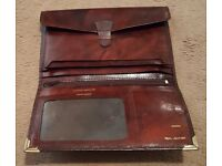 Brown real leather gentleman's wallet in immaculate condition - never been used.