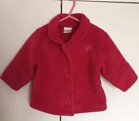 Baby Girls Beautiful Red Winter Coat By Next 6/9M